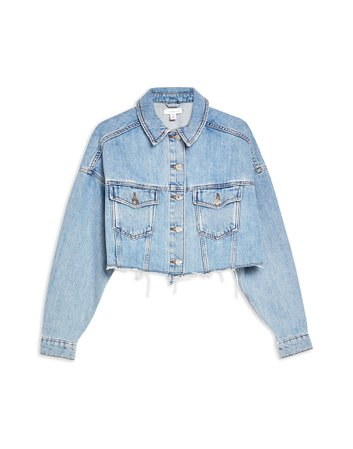Topshop Hacked Denim Jacket - Denim Jacket - Women Topshop Denim Jackets online on YOOX United States - 42746960VS