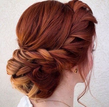 Ginger hair bun