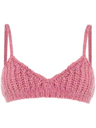 Alanui v-neck Knitted Crop Top - Farfetch