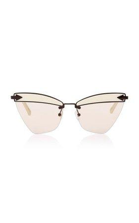 Sadie Cat-Eye Acetate And Metal Sunglasses By Karen Walker | Moda Operandi