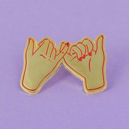 Pinky Promise Enamel Pin - Friendship, Best Friend, BFF, Sisters, Sisterhood - Femfetti