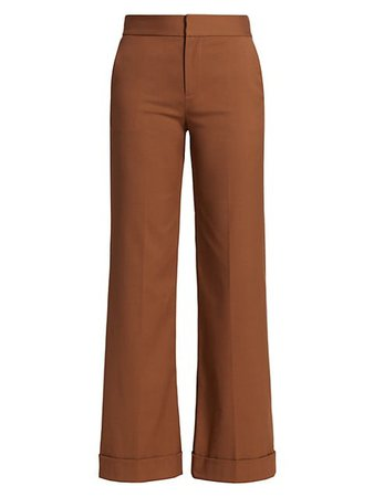 Alice + Olivia Dylan Low-Rise Wide-Leg Trouser | SaksFifthAvenue