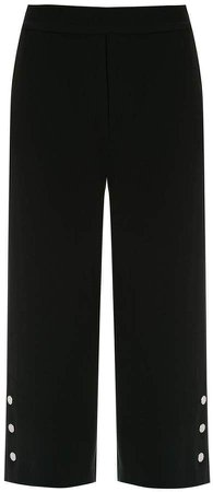 cropped buttoned trousers