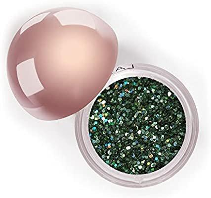Amazon.com : LA Splash Cosmetics Metallic Luster Sparkling Loose Glitter Green Eyeshadow Single Powder for Lips/Hair/Nail/Body - Crystallized Glitter (Appletini) : Beauty