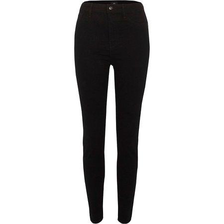 Black high waisted Harper skinny jeans - Skinny Jeans - Jeans - women