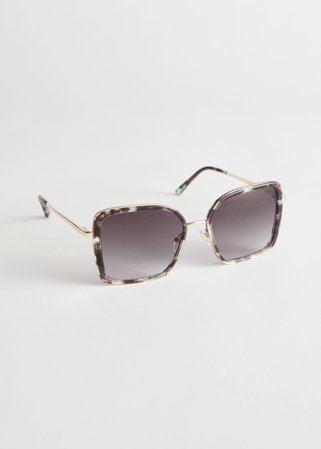 Square Tortoise Sunglasses - Tortoise - Sunglasses - & Other Stories