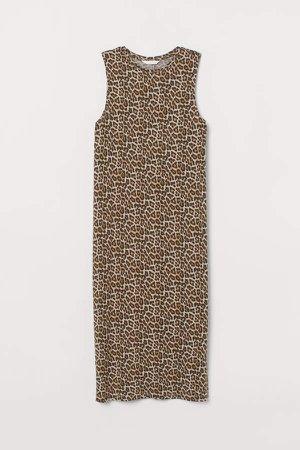 Sleeveless Jersey Dress - Beige