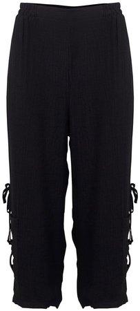 *Izabel London Black High Waisted Trousers