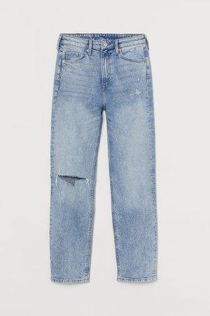 Vintage Slim High Ankle Jeans - Blue