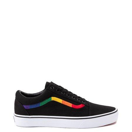 Vans Old Skool Skate Shoe - Black / Rainbow   Journeys