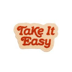 Take It Easy Patch Red