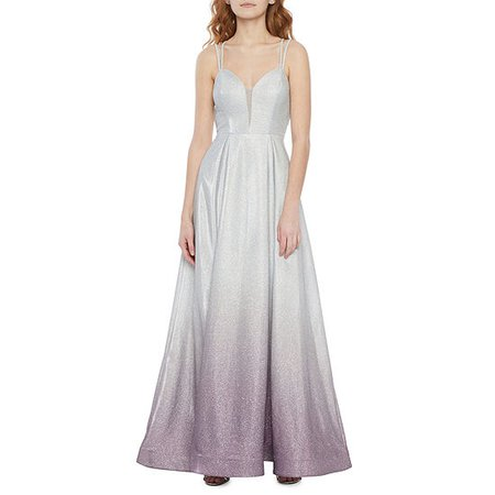 B. Smart Sleeveless Juniors Ball Gown, Color: Silver Lilac - JCPenney