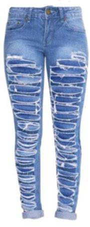 medium wash ripped jeans