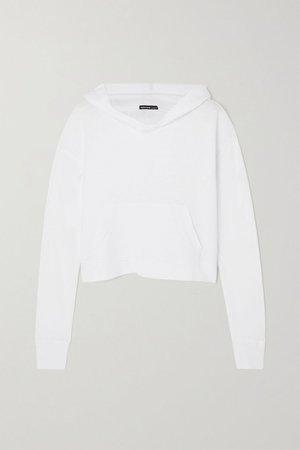 White Supima cotton-jersey hoodie | James Perse | NET-A-PORTER