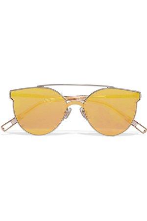 Gentle Monster | + Tilda Swinton Trick Of The Light round-frame silver-tone mirrored sunglasses | NET-A-PORTER.COM