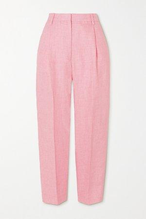 Pink Paris linen tapered pants | REMAIN Birger Christensen | NET-A-PORTER