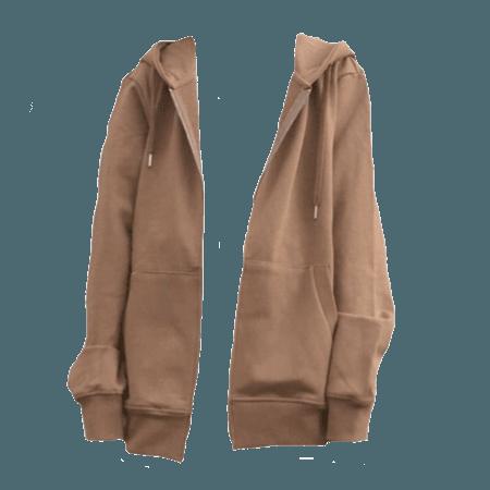 brown hoodie png