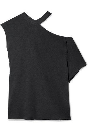 RtA | Axel oversized off-the-shoulder stretch-cotton jersey top | NET-A-PORTER.COM