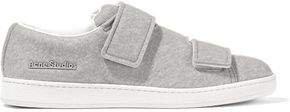 Triple Brushed-felt Sneakers