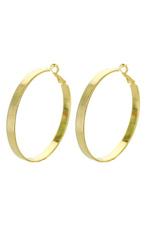 Panacea Flat Hoop Earrings | Nordstrom