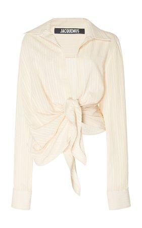 Bahia Knot-Front Cotton-Blend Top by Jacquemus | Moda Operandi
