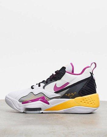 Jordan Zoom 92 white gray and purple sneakers   ASOS