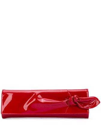 Giuseppe Zanotti knot-detail clutch red IB00009003 - Farfetch