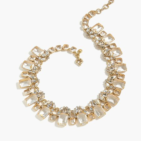 J.Crew: Cluster Drop Stone Necklace For Women