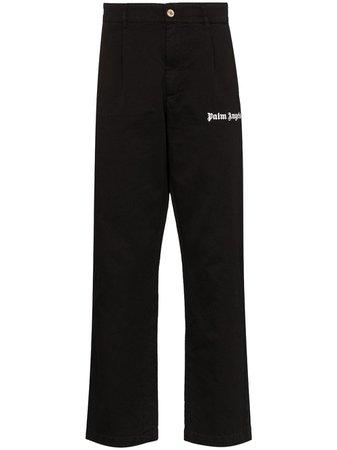 Palm Angels logo-print Cotton Trousers - Farfetch
