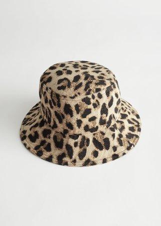 Leopard Jacquard Bucket Hat - Leopard - Hats - & Other Stories