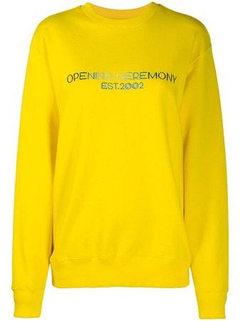 Opening Ceremony Embroidered Text Logo Sweatshirt - Farfetch