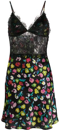 floral printed slip dress