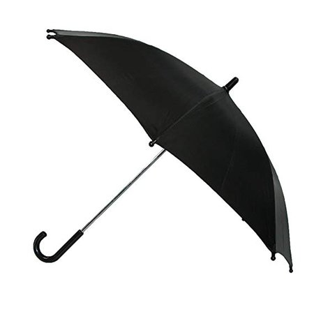 Amazon.com: CTM Kids' Solid Color Stick Umbrella, Black: BeltOutlet