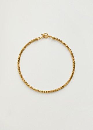 Interwoven chain necklace - Women   Mango USA