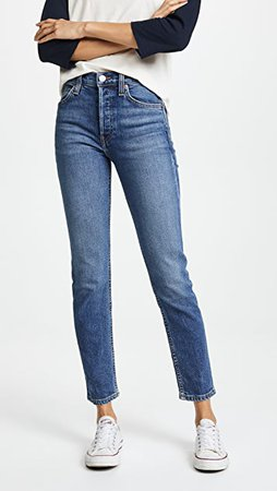 RE/DONE High Rise Ankle Crop Jeans | SHOPBOP
