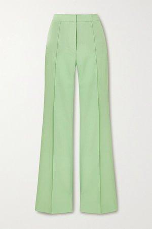 Mint Victoria twill wide-leg pants | Victoria, Victoria Beckham | NET-A-PORTER
