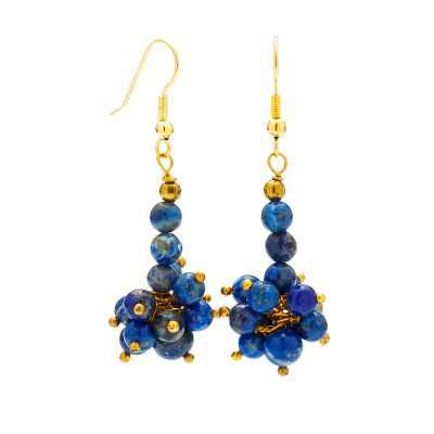 Buy Women's Lapis Lazuli Gemstone Earrings | Mystic Self LLC