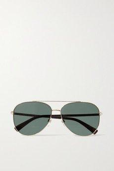 Gold Aviator gold-tone sunglasses | RAY-BAN | NET-A-PORTER