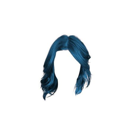 blue doll hair png
