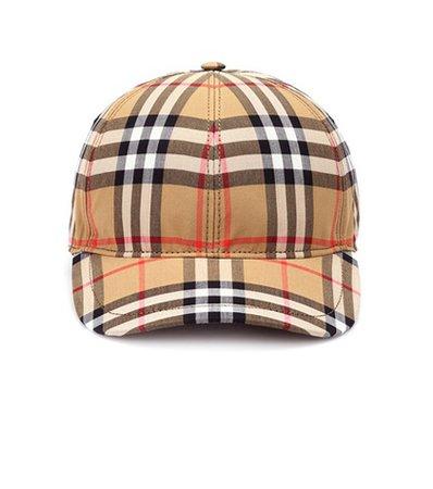 Vintage Check cotton baseball cap
