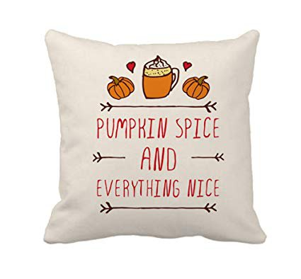 Amazon.com: 4TH Emotion Pumpkin Spice Fall Thanksgiving Home Decor Throw Pillow Cover Cotton Polyester Cusion Case 18 x 18 Inches: Home & Kitchen