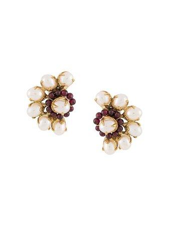 Goossens | Perle Baroque asymmetric earrings