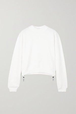 Love Zip-detailed Cotton-jersey Sweatshirt - White