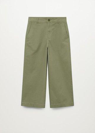 Cotton culotte trousers - Women | Mango USA