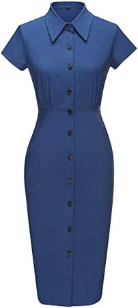 GownTown 1950s Women Cocktail Prom Tea Dress at Amazon Women's Clothing store