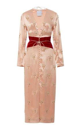 Alice Temperley- Ramesses Scarab Gemini Silk Dress