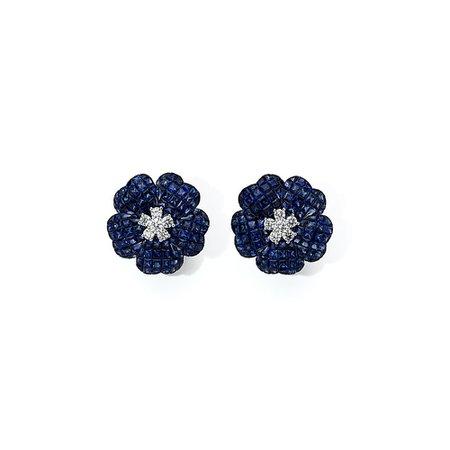 earring flower diamond blue - Buscar con Google