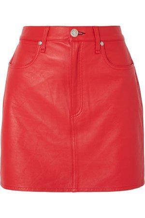 rag & bone   Moss leather mini skirt   NET-A-PORTER.COM