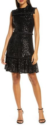 Sequin Tiered A-Line Dress