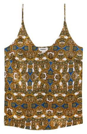 L'AGENCE Gabriella Ornate Print Silk Camisole   Nordstrom
